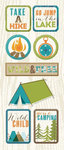Imaginisce - Outdoor Adventure Collection - Chipboard Stickers - Take a Hike