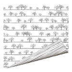 Imaginisce - Black Ice Collection - 12 x 12 Double Sided Paper - Tree Line