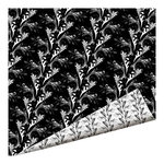 Imaginisce - Black Ice Collection - 12 x 12 Double Sided Paper - Marbled Vine