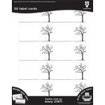 Imaginisce - Black Ice Collection - Label Cards - Tree Line