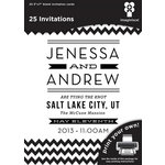 Imaginisce - Black Ice Collection - 5 x 7 Invitations - Hypnotic