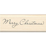 Inkadinkado - Holiday Collection - Wood Mounted Stamps - Merry Christmas