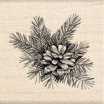Inkadinkado - Wood Mounted Stamps - Pine Cone