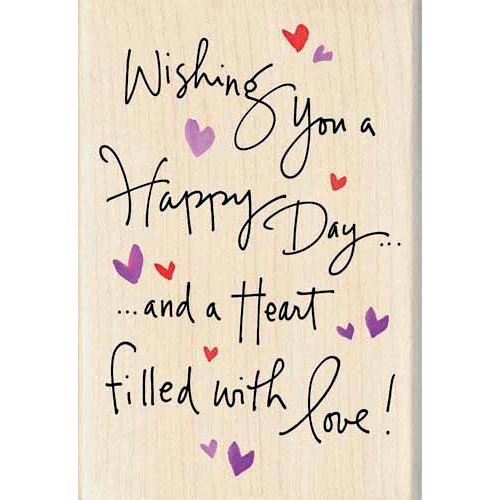 Inkadinkado - Valentine's Day Collection - Wood Mounted Stamps - Happy Day