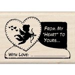 Inkadinkado - Valentine's Day Collection - Wood Mounted Stamps - From My Heart to Yours Tag