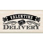 Inkadinkado - Valentine's Day Collection - Wood Mounted Stamps - Valentine Delivery