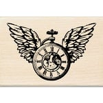 Inkadinkado - Wood Mounted Stamps - Clock Wings