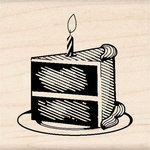 Inkadinkado - Birthday Fun Collection - Wood Mounted Stamps - Cake