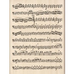 Inkadinkado - Wood Mounted Stamps - Music Sheet, CLEARANCE