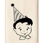 Inkadinkado - Birthday Fun Collection - Wood Mounted Stamps - Party Boy