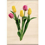 Inkadinkado - Photo Realistic Collection - Wood Mounted Stamps - Tulip Bunch