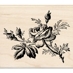 Inkadinkado - Designer Collection - Wood Mounted Stamps - Vintage Rose