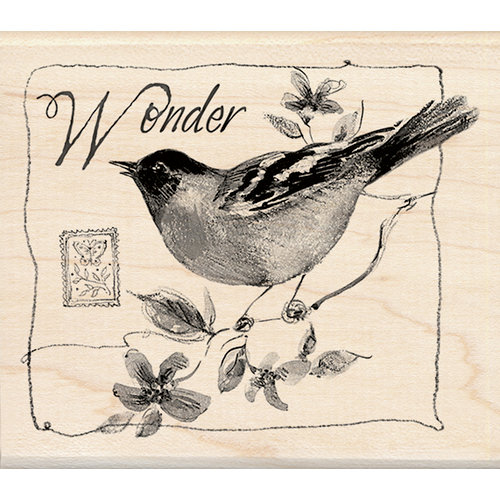 Inkadinkado - Designer Collection - Wood Mounted Stamps - Wonder Bird