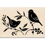 Inkadinkado - Designer Collection - Wood Mounted Stamps - Two Birds