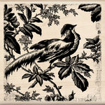 Inkadinkado - Designer Collection - Wood Mounted Stamps - Asian Pheasant