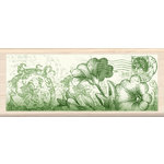 Inkadinkado - Designer Collection - Wood Mounted Stamps - Peony Border