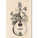 Inkadinkado - Sketches Collection - Christmas - Wood Mounted Stamps - Festive Mandolin