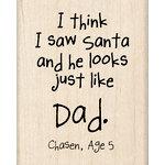 Inkadinkado - Kids Quotes Collection - Christmas - Wood Mounted Stamps - I Saw Santa