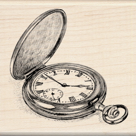Inkadinkado - Sketches Collection - Wood Mounted Stamps - Pocket Watch