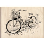 Inkadinkado - Sketches Collection - Wood Mounted Stamps - Bicycle