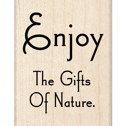 Inkadinkado - Wood Mounted Stamps - Nature Quote