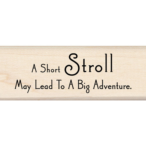 Inkadinkado - Wood Mounted Stamps - Adventure Quote