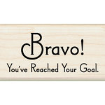 Inkadinkado - Wood Mounted Stamps - Bravo Quote