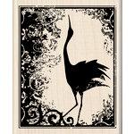 Inkadinkado - Wood Mounted Stamps - Heirloom Crane Print