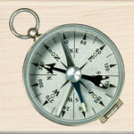 Inkadinkado - Photo Realistic Collection - Wood Mounted Stamps - Compass