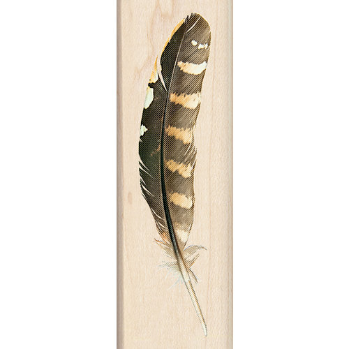 Inkadinkado - Photo Realistic Collection - Wood Mounted Stamps - Feather