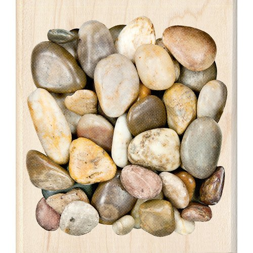 Inkadinkado - Photo Realistic Collection - Wood Mounted Stamps - Marble Stone Background