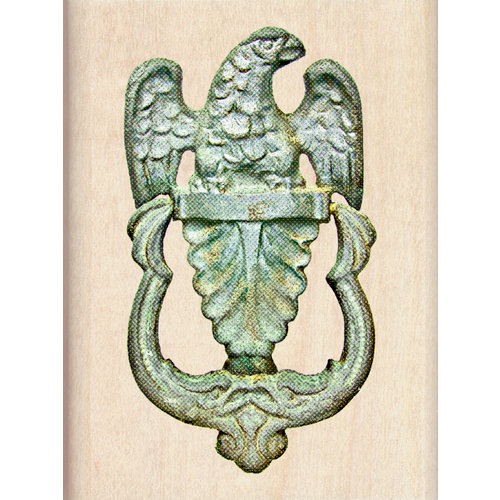 Inkadinkado - Photo Realistic Collection - Wood Mounted Stamps - Door Knocker