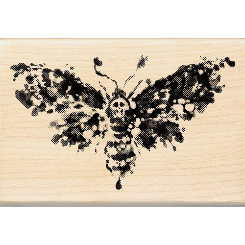 Inkadinkado - Inkblot Collection - Halloween - Wood Mounted Stamps - Death Head Moth