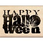 Inkadinkado - Inkblot Collection - Halloween - Wood Mounted Stamps - Happy Halloween