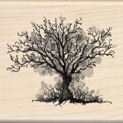 Inkadinkado - Inkblot Collection - Halloween - Wood Mounted Stamps - Fall Tree