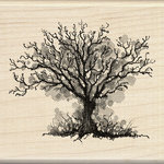 Inkadinkado - Inkblot Collection - Halloween - Wood Mounted Stamps - Fall Tree