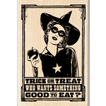 Inkadinkado - Halloween - Wood Mounted Stamps - Trick or Treat Witch