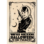 Inkadinkado - Halloween - Wood Mounted Stamps - Space Girl