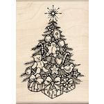 Inkadinkado - Holiday Collection - Christmas - Wood Mounted Stamps - Christmas Tree