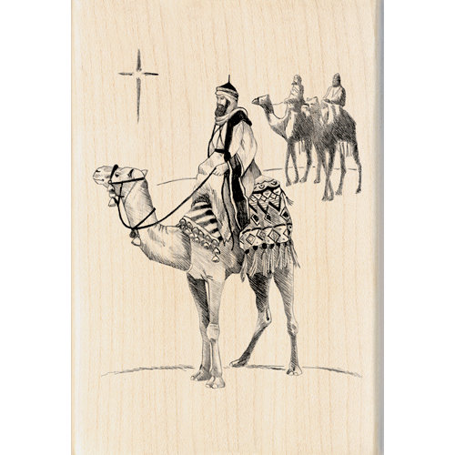 Inkadinkado - Holiday Collection - Christmas - Wood Mounted Stamps - Three Kings