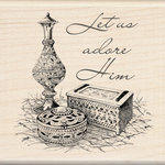 Inkadinkado - Holiday Collection - Christmas - Wood Mounted Stamps - Gifts