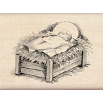 Inkadinkado - Holiday Collection - Christmas - Wood Mounted Stamps - Baby Jesus