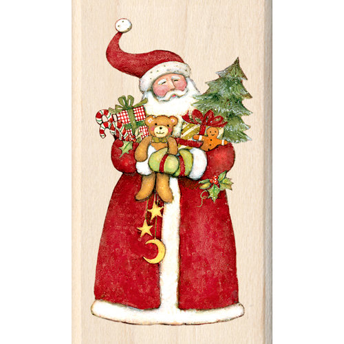 Inkadinkado - Holiday Collection - Christmas - Wood Mounted Stamps - Santa