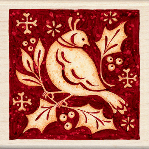 Inkadinkado - Holiday Collection - Christmas - Wood Mounted Stamps - Partridge