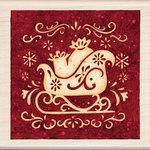 Inkadinkado - Holiday Collection - Christmas - Wood Mounted Stamps - Sleigh