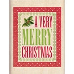 Inkadinkado - Holiday Collection - Christmas - Wood Mounted Stamps - A Very Merry Christmas