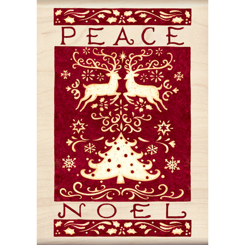 Inkadinkado - Holiday Collection - Christmas - Wood Mounted Stamps - Peace Noel
