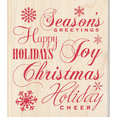 Inkadinkado - Holiday Collection - Christmas - Wood Mounted Stamps - Holiday Words