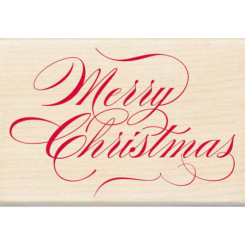 Inkadinkado - Holiday Collection - Christmas - Wood Mounted Stamps - Merry Christmas