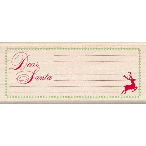 Inkadinkado - Holiday Collection - Christmas - Wood Mounted Stamps - Dear Santa List